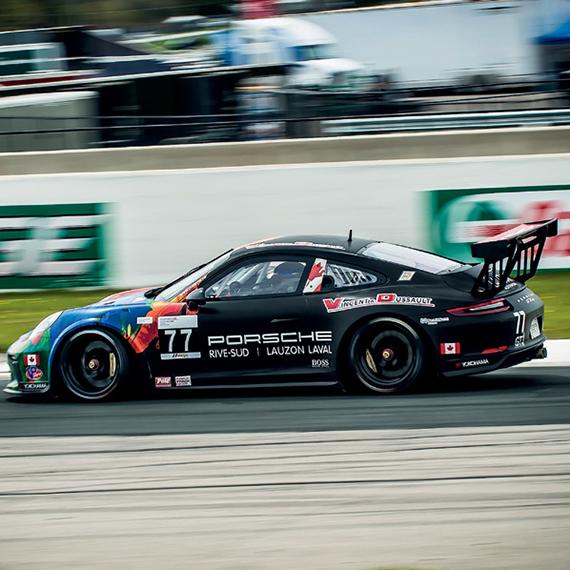 Quant l'art roule Porsche GT3