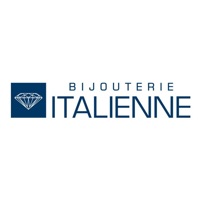 BOUCLES D'OREILLES. CHIMENTO EN OR 18K BLANC AVEC DEUX CERCLES  INFINIE ET DIAMANTS 0.43CTW
