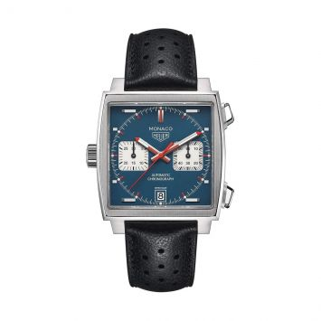 TAG HEUER WATCH WITH BLUE AND WHITE DIAL