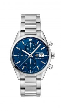 CARRERA CALIBRE 16 AUTOMATIC CHRONOGRAPH WATCH WITH BLUE DIAL