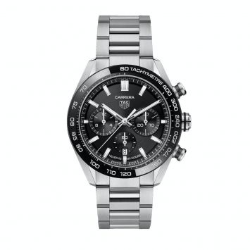 TAG HEUER CARRERA WATCH WITH BLACK DIAL