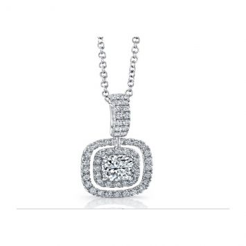 PENDENTIF.CUSHION CUT 0.52CT VS-SI