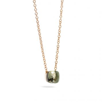 POMELLATO 18K ROSE GOLD NECKLACE WITH PRASIOLITE