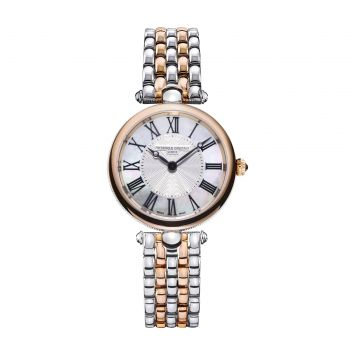 FREDERIQUE CONSTANT CLASSICS STEEL AND ROSE GOLD WATCH