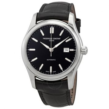 FRÉDÉRIQUE CONSTANT AUTO-DATE WATCH WITH BLACK DIAL