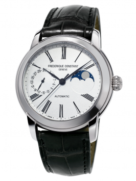 FRÉDÉRIQUE CONSTANT CLASSIC MOONPHASE WATCH WITH WHITE DIAL