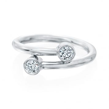 BAGUE EN OR BLANC 18K AVEC 2 DIAMANTS FOREVERMARK
