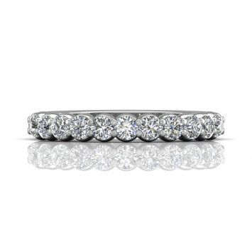 Classic pavé wedding band - Total Weight available from 0.35 to 1ct