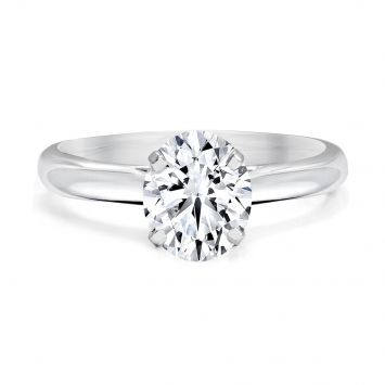 Solitaire ring set with an oval BL diamond 0.73CT