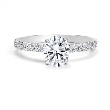 FOREVERMARK DIAMOND RING WITH 0.70 CT OVAL