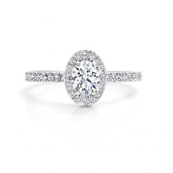 Solitaire ring set with an oval BL diamond 0.60CT