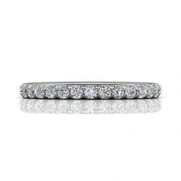 French pavé wedding band - Total weight availble from 0.25ct to 1ct
