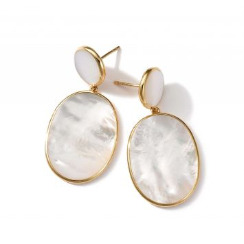ROCK CANDY EARRINGS IN 18K YELLOW GOLD AND MOTHER-OF-PEARL