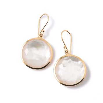 LOLLIPOP EARRINGS IN 18K YELLOW GOLD WITH MOTHER-OF-PEARL