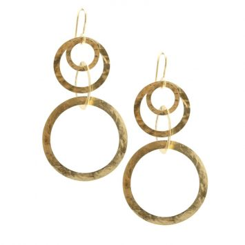 IPPOLITA MULTILINK YELLOW GOLD EARRINGS