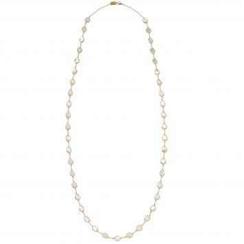 POLISHED ROCK CANDY NECKLACE IN 18K YELLOW WITH MOTHER-OF-PEARL