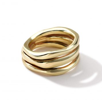 BAGUE CLASSICO SQUIGGLE EN OR JAUNE 18K