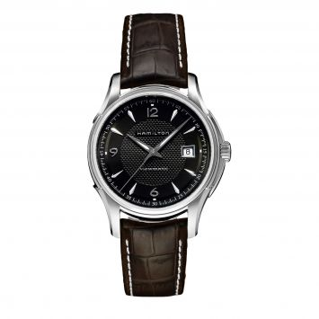 HAMILTON JAZZMASTER 40MM WATCH WITH BLACK DIAL