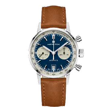 INTRA-MATIC AUTO CHRONO WATCH WITH BLUE PANDA DIAL