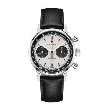 HAMILTON INTRAMATIC WATCH WITH WHITE AND BLACK DIAL