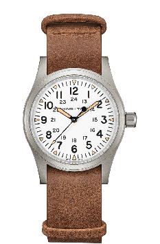 MONTRE KHAKI FIELD MECHANICAL AVEC FOND BLANC