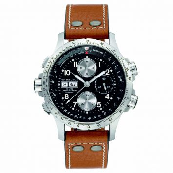 HAMILTON KHAKI X-WIND AUTO WATCH WITH BLACK DIAL