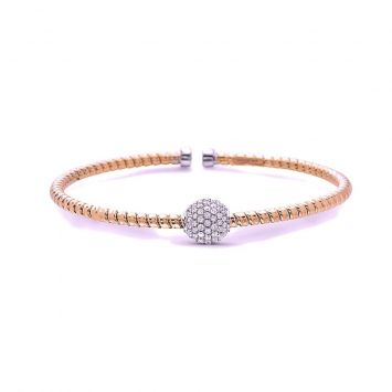 BRACELET TUBOGAS EN OR ROSE