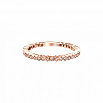 JONC ANNIVERSAIRE EN OR ROSE 18K SERTI DE DIAMANTS