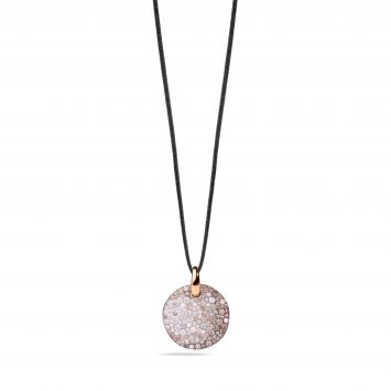 SABBIA PENDANT IN 18K ROSE GOLD WITH BROWN AND WHITE DIAMONDS
