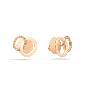 POMELLATO EARRINGS IN 18K ROSE GOLD WITH BROWN DIAMONDS