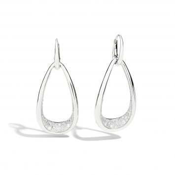 POMELLATO WHITE GOLD AND DIAMOND EARRINGS