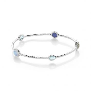ROCK CANDY BANGLE BRACELET IN STERLING SILVER WITH ECLIPSE STONES
