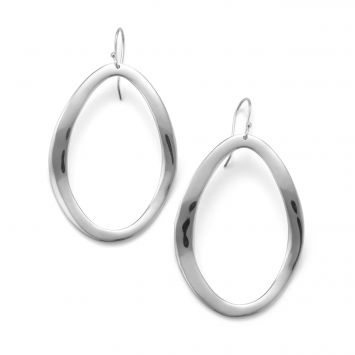 CLASSICO WAVY EARRINGS IN STERLING SILVER