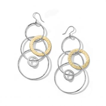 Ippolita CHIMERA EARRINGS YELLOW GOLD AND SILVER