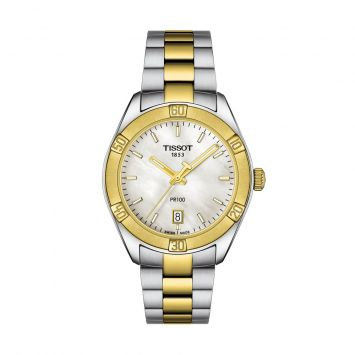 TISSOT GOLD-PLATED PR100 WATCH