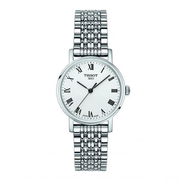 EVERYTIME SMALL QUARTZ WATCH IN STAINLESS STEEL WITH WHITE DIAL