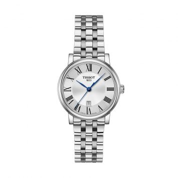 TISSOT CARSON LADY 30MM SILVER DIAL WATCH
