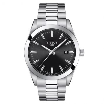 TISSOT GENTLEMAN WATCH WITH BLACK DIAL