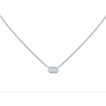 Collier Forevermark Tribute coupe émeraude