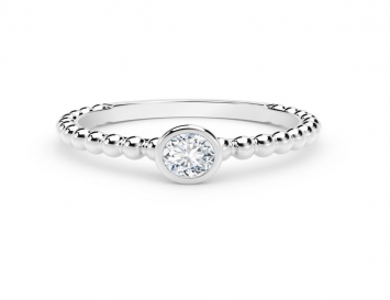 Bague Forevermark Tribute Collection en or blanc 18K boules