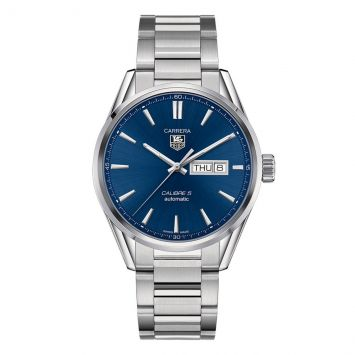 TAG HEUER CARRERA WATCH WITH BLUE DIAL