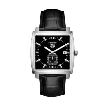 TAG HEUER MONACO WATCH WITH BLACK DIAL