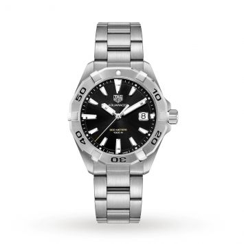 TAG HEUER AQUARACER WATCH WITH BLACK DIAL