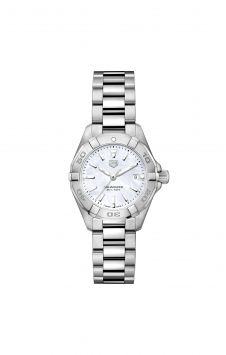 TAG1 WATCH TAG HEUER AQUARACER IN STEEL AND PEARL MOTHER-OF-PEARL