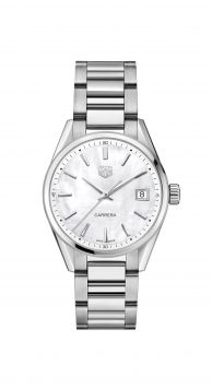 CARRERA LADY QUARTZ WATCH IN STAINLESS STEEL WITH MOTHER-OF-PEARL DIAL