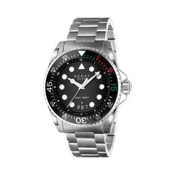 GUCCI DIVE TIMEPIECE STAINLESS STEEL AND CERAMIC