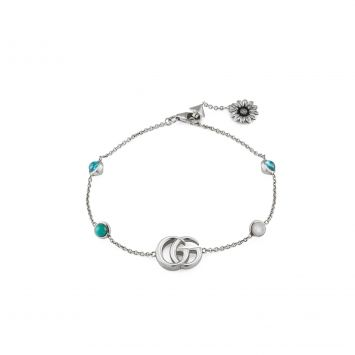 BRACELET WITH MOTHER OF PEARL AND BLUE TOPAZ