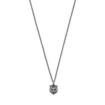 GUCCI GATTO SILVER NECKLACE