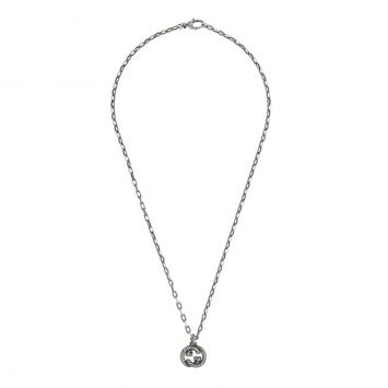 COLLIER GUCCI INTERLOCKING G EN ARGENT