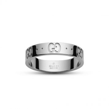 GUC1 GUCCI RING IN WHITE GOLD WITH ENGRAVING